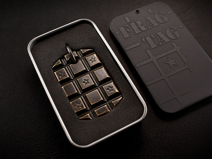 Frag Tag Dog Tag Bronze