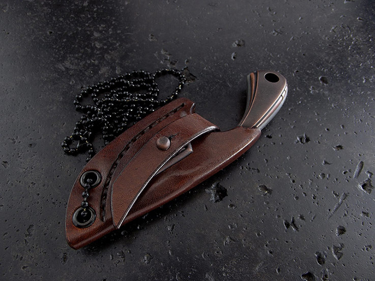 Custom neck knife 269