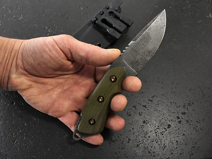 Custom fixed blade knife 297