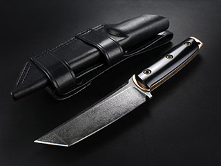 Custom Tanto Fixed Blade Knife 322
