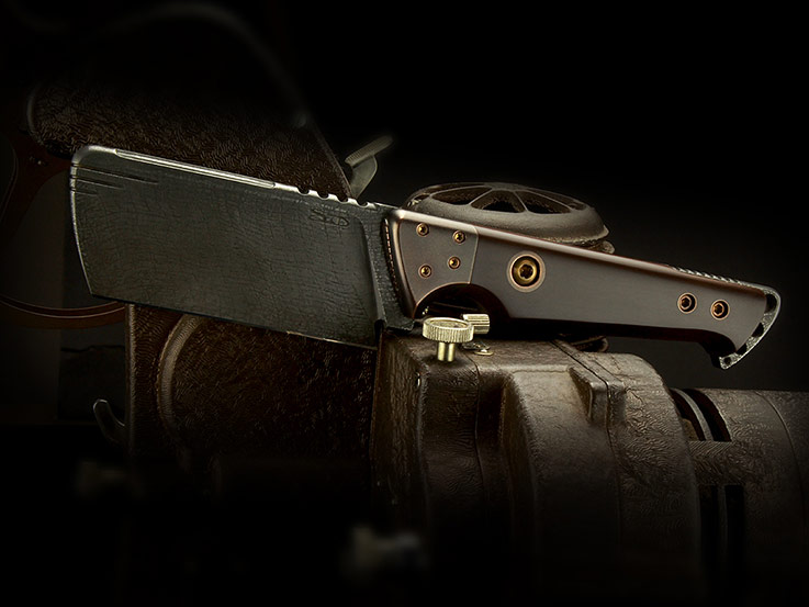 Dieselpunk cleaver knife